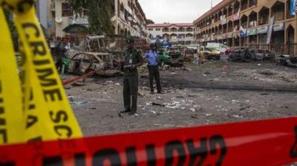 A female suicide bomber killed at least one person after blowing herself up at a teachers' training college in Nigeria.