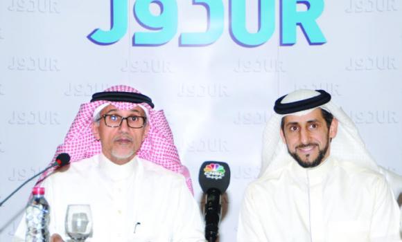 Chairman Abdullah bin Mohammed Al-Issa with CEO Badr Al-Badr.