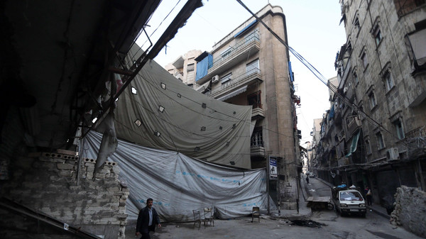 Aleppo has been divided into government- and rebel-held areas since an insurgent offensive in mid-2012.