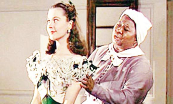 "Hattie McDaniel, right, was the first African-American win an Oscar for her performance as ""Mammy"" in Gone with the Wind."