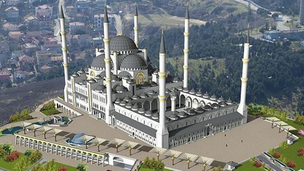 Istanbul's Çamlıca Mosque will be built on an area of 30,000 square meter (7.41 acres)