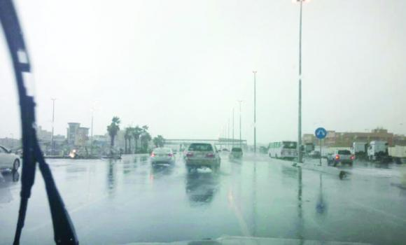 Some areas of Jeddah faced very heavy rains and hailstorms on Saturday.