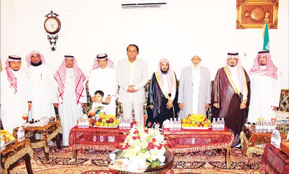 All India Muslim Scholars Association General Secretary Kanthapuram A.P. Aboobacker Musliyar, third from right, was given a reception in Jeddah. Several Saudi officials attended the reception.