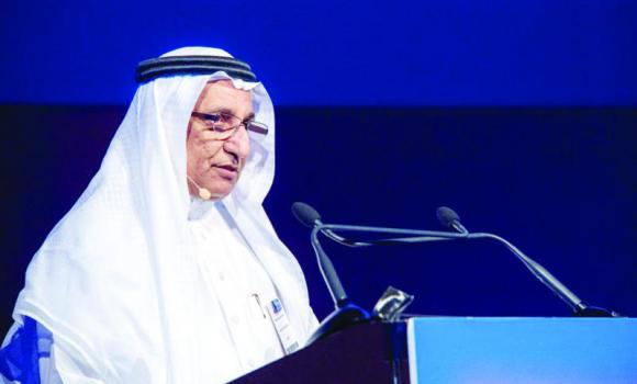Mohamed Al-Mady, SABIC vice chairman and CEO, addresses the GPCA forum in Dubai.
