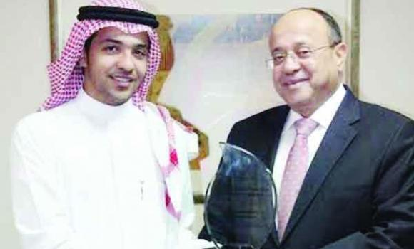Mohammad Sharaf receives the Young Hotelier of the Year at the Middle East Hotelier Awards for 2014.