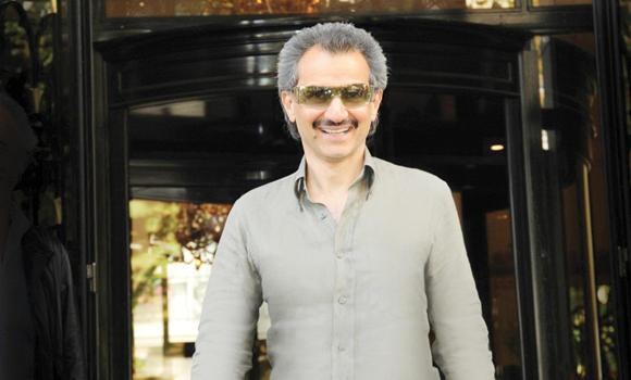 Prince Alwaleed at George V Hotel, Paris.