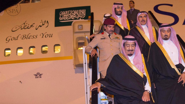 Saudi Arabia's Crown Prince Salman bin Abdulaziz arrives in Australia.