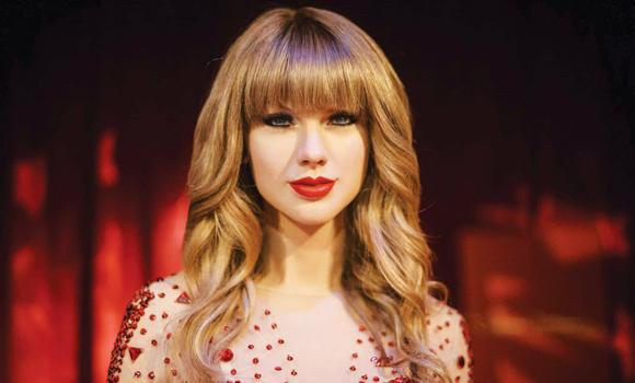 A recently inaugurated wax figure of Taylor Swift is displayed at Madame Tussauds DC in Washington.