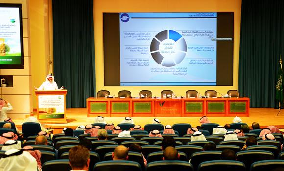 The opening session of the Saudi-International conference on Environmental Technology. (SPA)