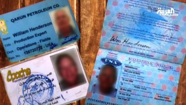 The group published pictures of his passport and two identification cards.