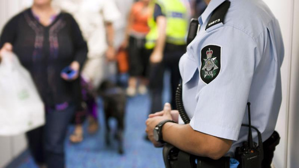 Australia Sunday said it stopped two teenage brothers at Sydney Airport believed to be heading to the Middle East to fight.