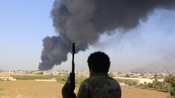 A Filipino was killed and eight people were wounded when a rocket likely to have targeted a refinery hit the western Libyan town of Zawiya.