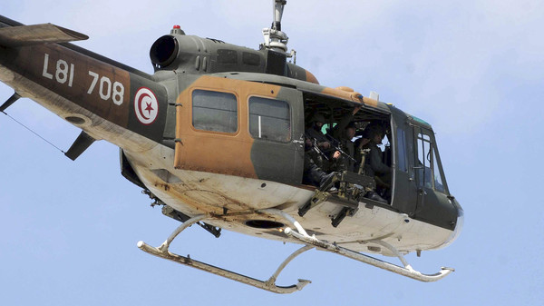 A Tunisian army helicopter