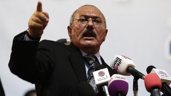 Former Yemeni president Ali Abdullah Saleh called for U.N.-brokered Saudi-Yemeni talks to be held in Geneva.