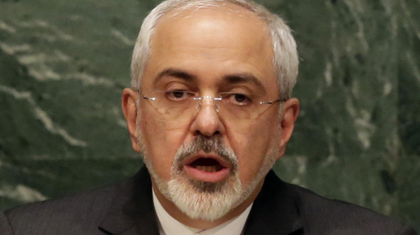 Iran's Foreign Minister Mohammad Javad Zarif addresses the 2015 Nuclear Nonproliferation Treaty (NPT) review conference, in the United Nations General Assembly.