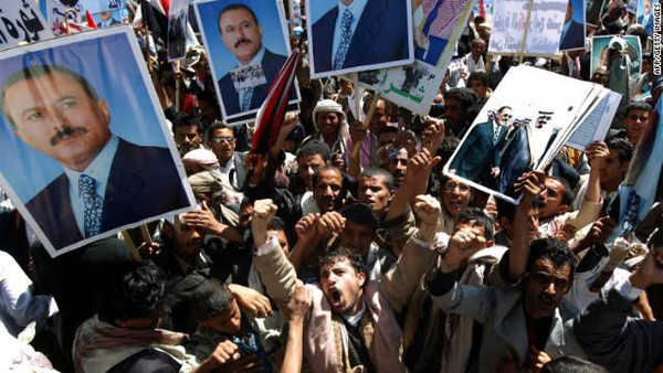 Gulf Arab countries and Jordan want the United Nations Security Council to blacklist the son of Yemen's former president.