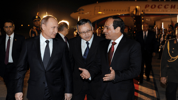 Russia was Sisi's first visit to a foreign country since he was sworn in as president in June after a landslide victory at the polls.