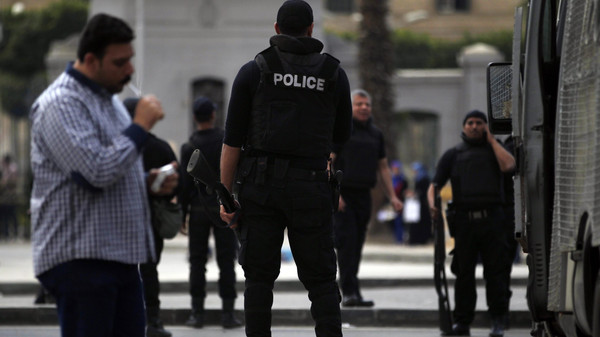 Egyptian security officials say bombs have targeted courthouses in two cities, wounding two people.