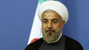 Iran's President Rouhani attends a news conference in Ankara