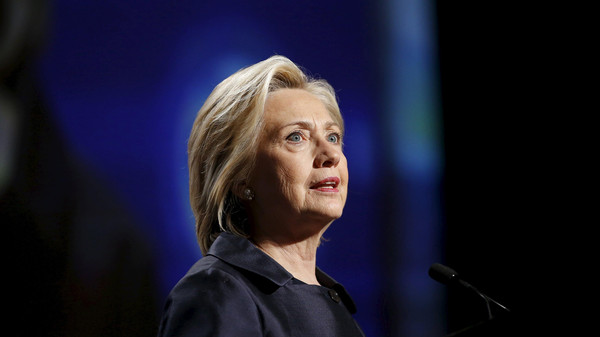 Democratic U.S. presidential candidate Hillary Clinton addresses the U.S. Conference of Mayors Annual Meeting in San Francisco.