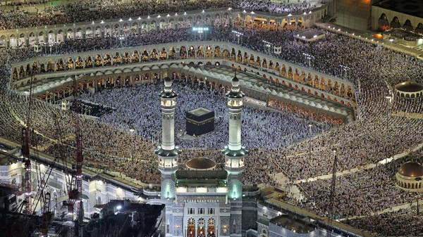 Pilgrims pray in the Grand Mosque during the Muslim month of Ramadan in the holy city of Mecca, Saudi Arabia.