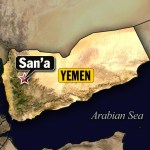 Arab coalition forces target weapons depot in west Sanaa
