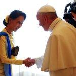Pope's meeting with Myanmar's Suu Kyi leads to diplomatic ties