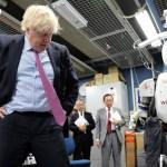 When Britain's Boris Johnson met high-tech robots in Japan