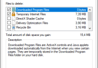 Disk Cleanup Utility Main Windows
