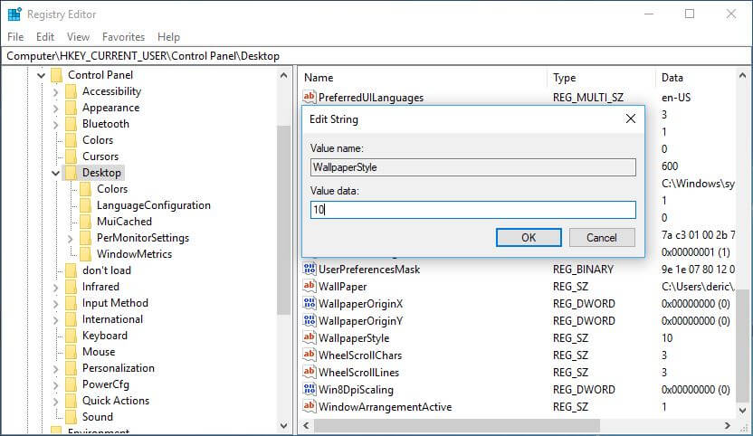 Registry Editor Modify Value