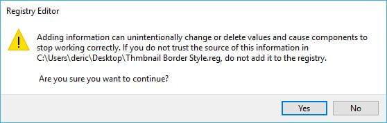 Run Thmbnail Border Reg File