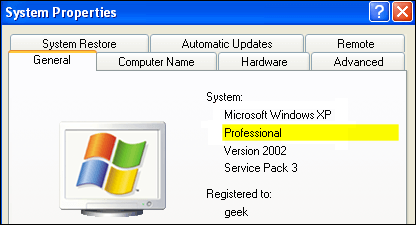 Running 32-bit or 64-bit Windows XP
