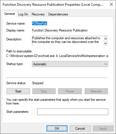 windows 10 not showing on network
