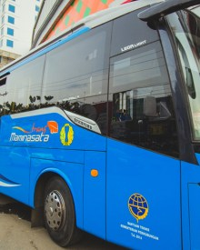 Mobil bus BRT kota Makassar