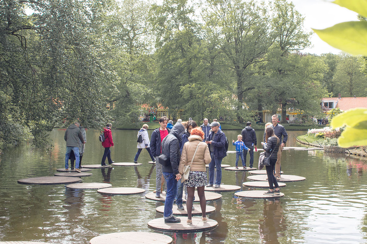 People at Keukenhof Netherlands