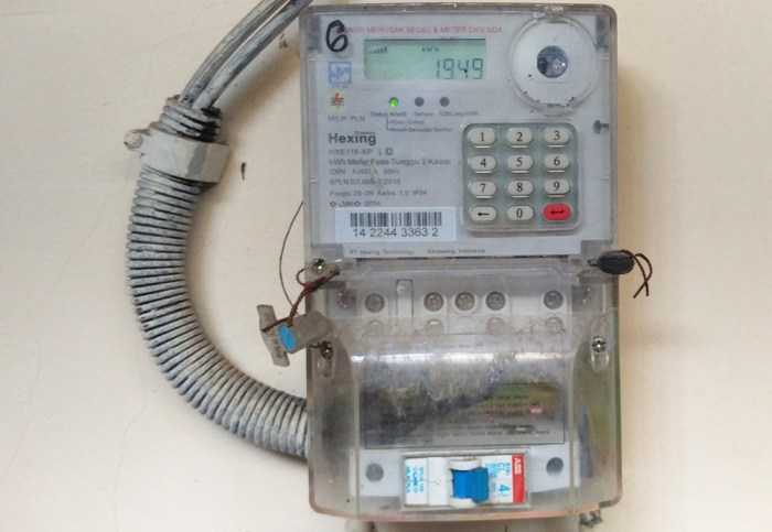 meteran listrik sistem token PLN