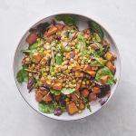 Sweet potato & lentil salad