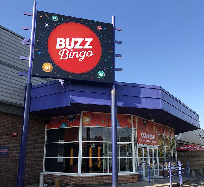 Buzz Bingo exterior Bradford Tong Street UK