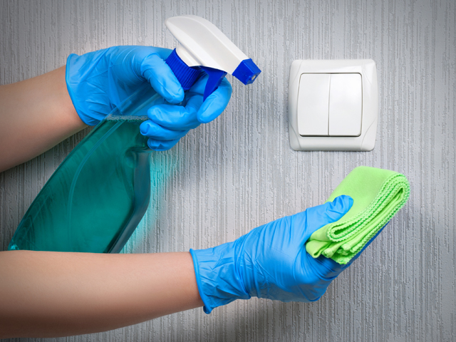 cleaning light switch