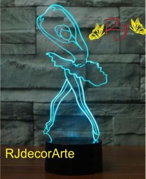lampara led bailarina ballet