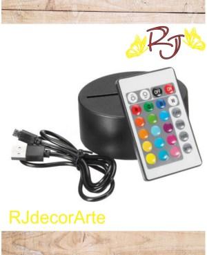 Base multicolor con control