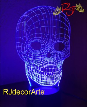 lampara led 3D Cráneo