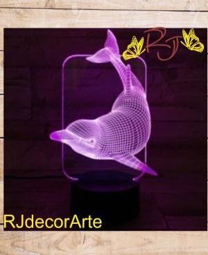 Lampara led delfin 3d