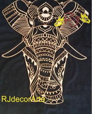 Lampara led elefante mandala2