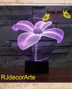 Lampara led flor 3d