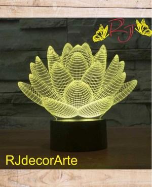 lampara led flor loto