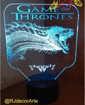 lampara led dragon got