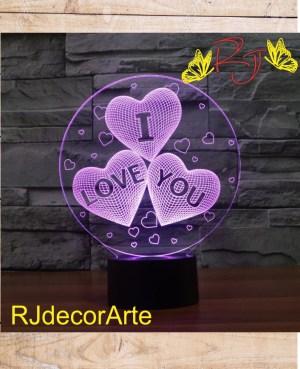 lampara led corazones love