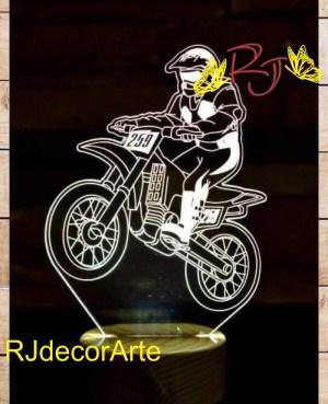 lampara led 3d motocroos