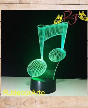 lampara led nota musical
